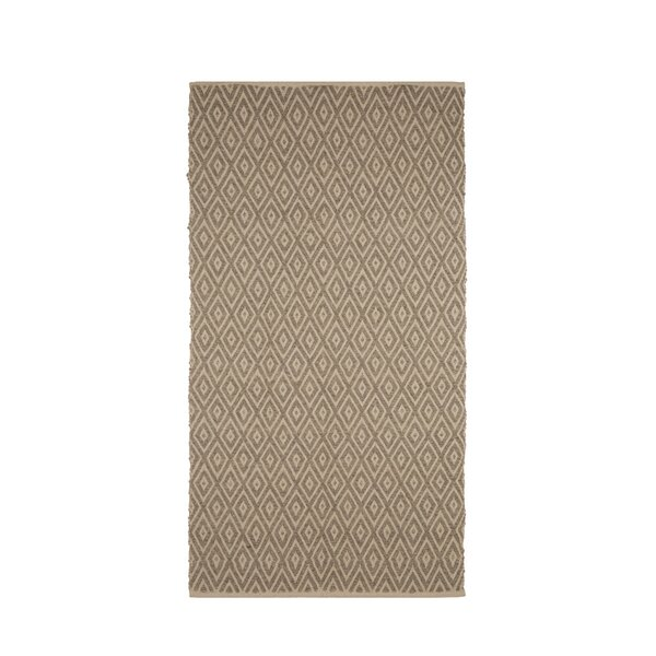 One-of-a-Kind Bourbeau Hand Woven Wool/Cotton Light Beige Area Rug by Ivy Bronx