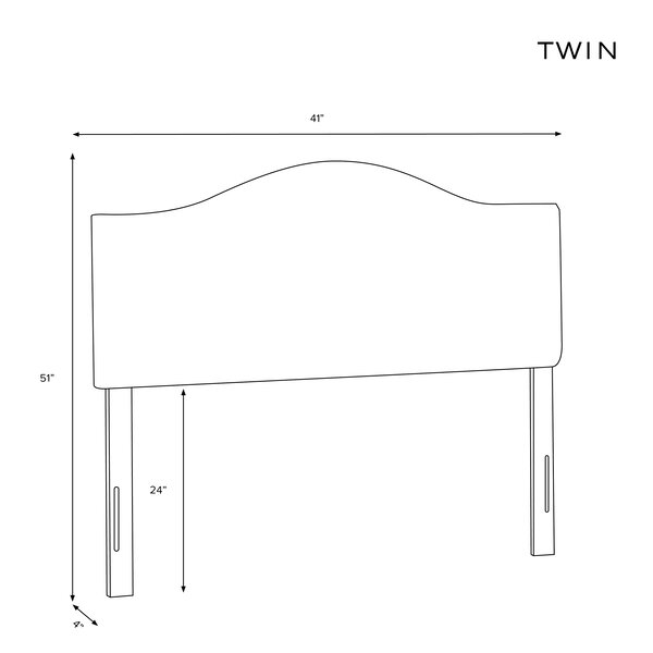 Emilia Upholstered Panel Headboard by Wayfair Custom Upholstery Wayfair Custom Upholstery™
