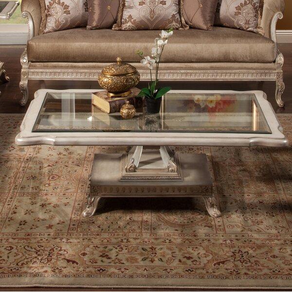 Perla Pedestal Coffee Table With Storage By Benetti's Italia