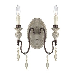 Budget Grateron 2-Light Candle Wall Light By Lark Manor