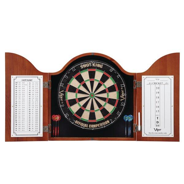 GLD Products Viper Cambridge Cinnamon Dartboard Cabinet U0026 Reviews | Wayfair