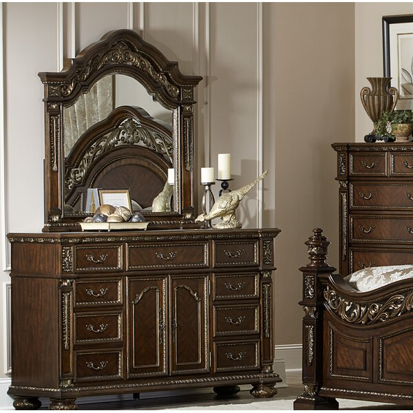 Pettiford 9 Drawer Dresser with Mirror by Astoria Grand