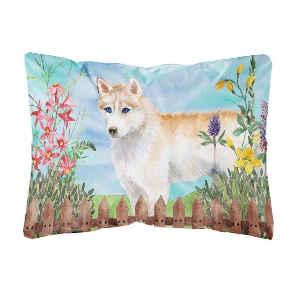 Hawthorne Siberian Husky Spring Indoor/Outdoor Throw Pillow by Winston Porter