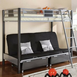 Fuselier Metal Twin Futon Bunk Bed