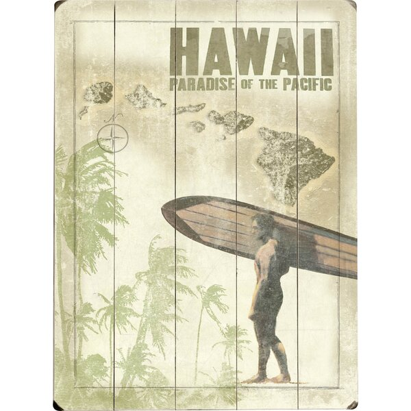 Surfer Graphic Art Print Multi-Piece Image on Wood by Artehouse LLC