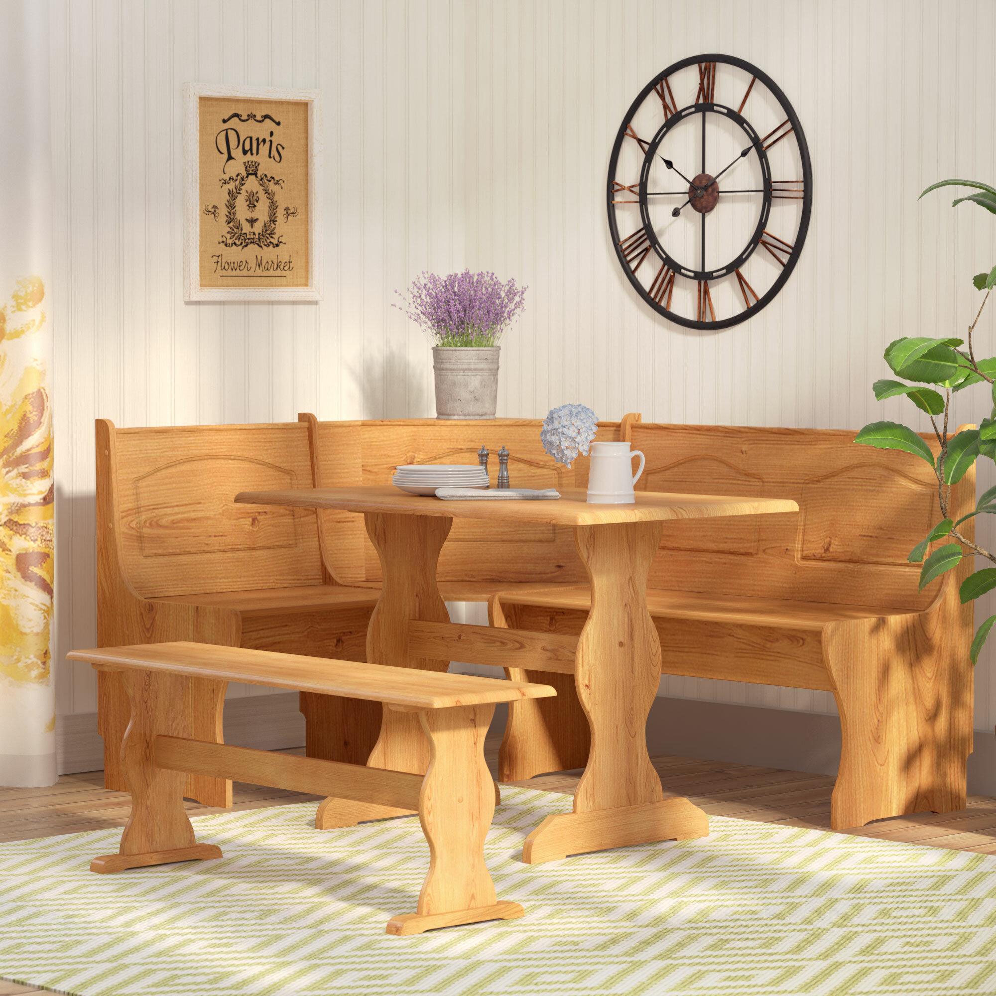 Gentil August Grove Patty 3 Piece Nook Dining Set U0026 Reviews | Wayfair