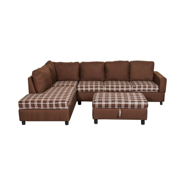 Classy Enzo Sectional with Ottoman by Millwood Pines by Millwood Pines