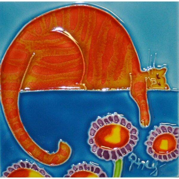 Orange Cartoon Cat by Continental Art Center
