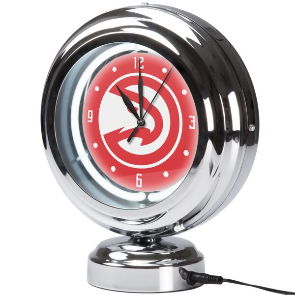 NBA City Neon Table Clock by Trademark Global