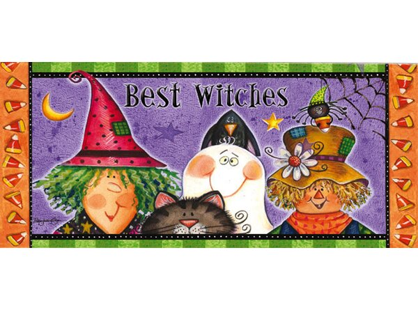 New Best Witches Sassafras Doormat by The Holiday Aisle