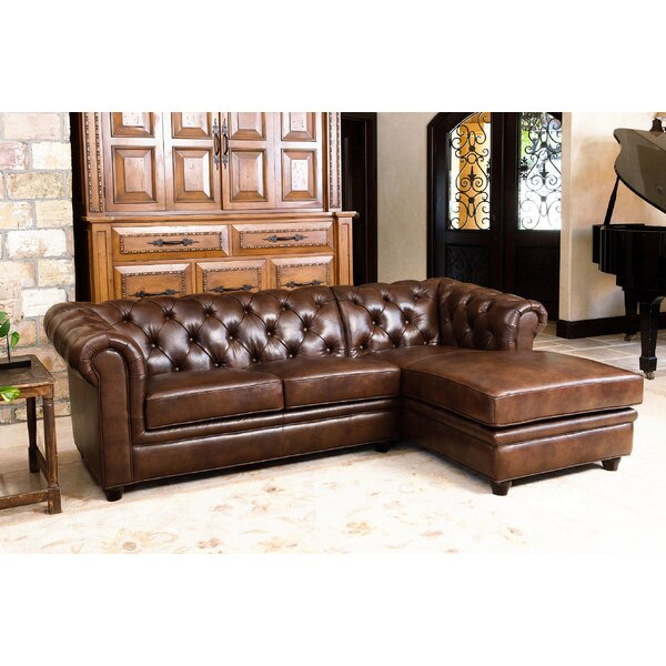 Lapointe Leather Sectional by Darby Home Co