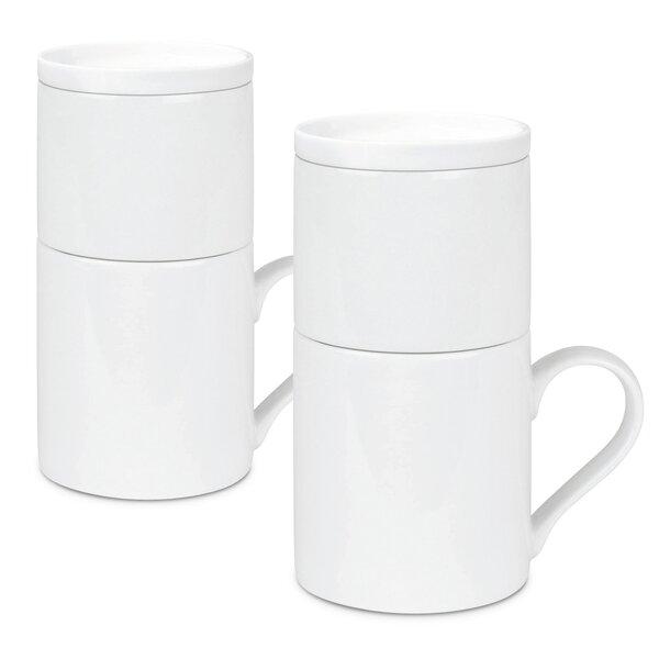 Tighe Contemporary Coffee Mug (Set of 2) by Latitude Run