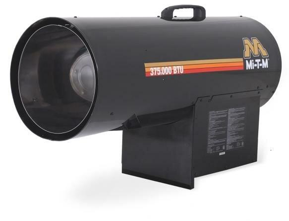 375,000 BTU Portable Propane Forced Air Utility Heater by Mi-T-M