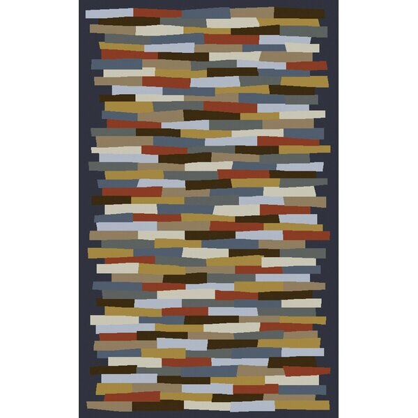 Bowers Hand-Tufted Blue/Gray Area Rug by Brayden Studio