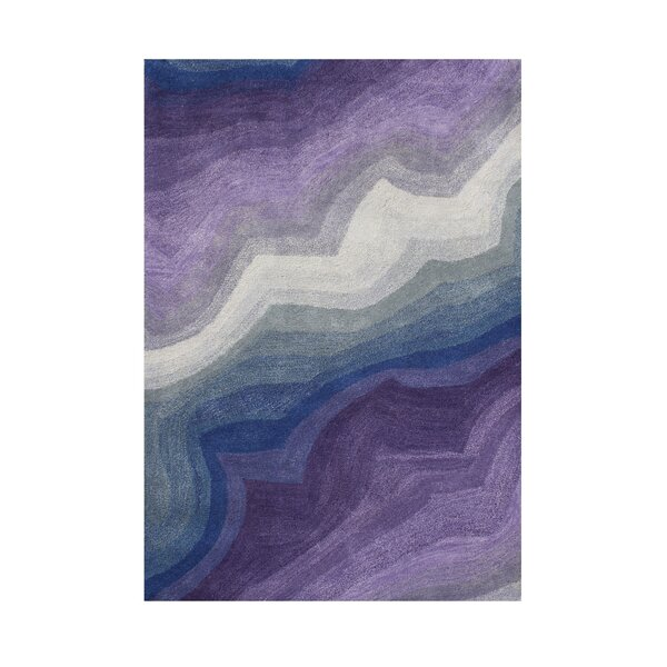 Hansen Hand-Tufted Purple Area Rug by The Conestoga Trading Co.