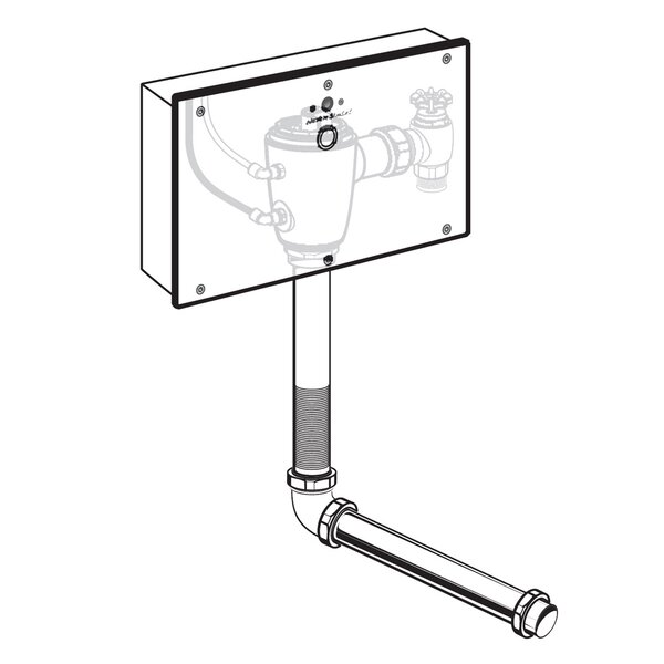 Concealed 1.6 GPF Multi-AC Wrist Blade Flush Valve with Back Spud by American Standard