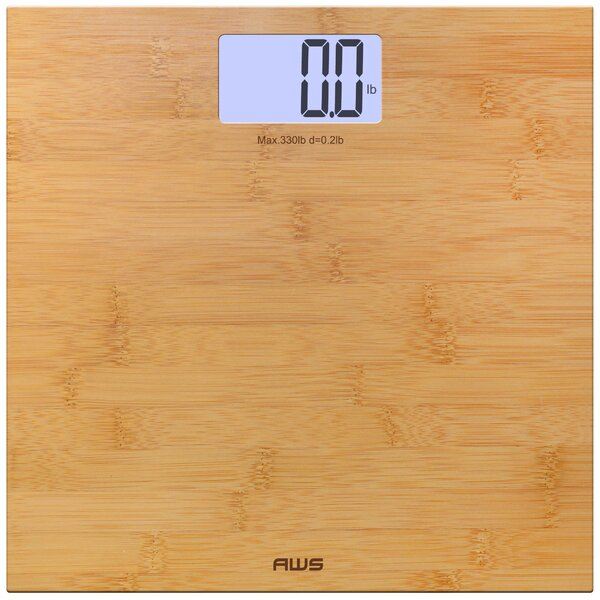 Digital Bamboo LCD Weight Scale by American Weigh
