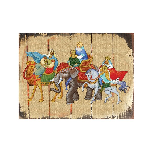 Inspirational Icon Three Kings Painting by G Debrekht