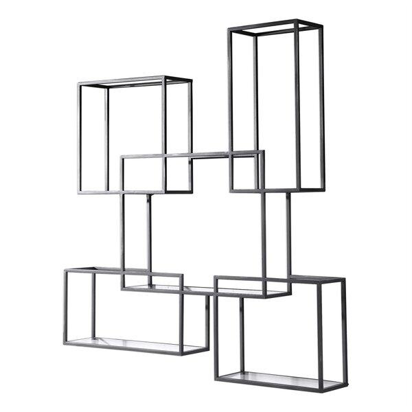 Crescent Open-Framed Wall Shelf by Latitude Run