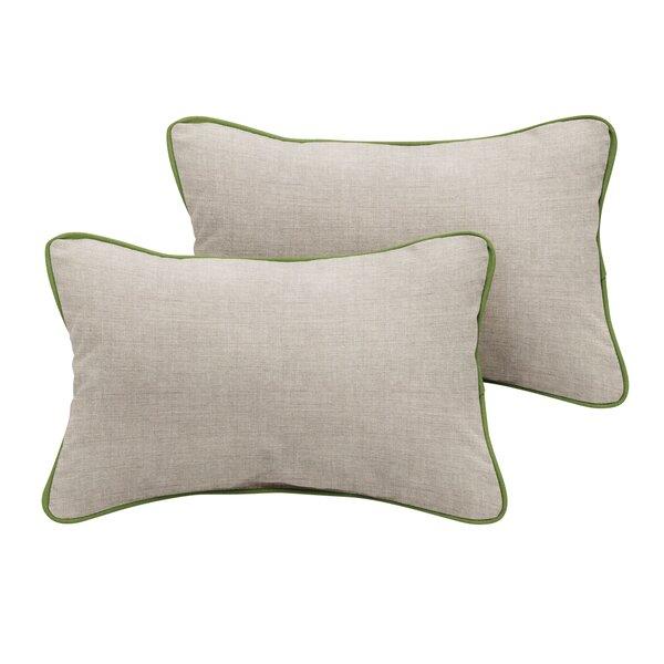 Boothbay Sunbrella Cast Outdoor Lumbar Pillow (Set of 2) by Rosecliff Heights