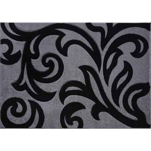 Corcoran Silver/Black Rug Rosdorf Park Rug Size: Runner 60 x