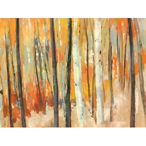 'Through The Trees' by Elinor Luna Framed Painting Print on Wrapped Canvas by Portfolio Canvas Decor