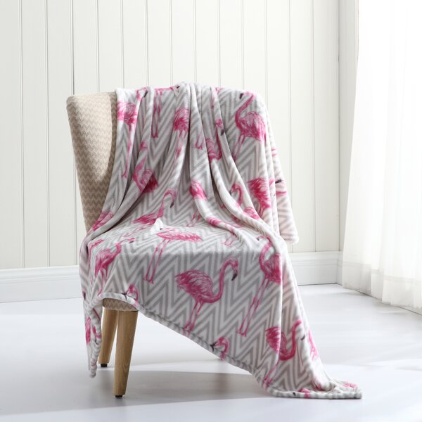 Cavender Tropical Plush Throw by Wrought Studio