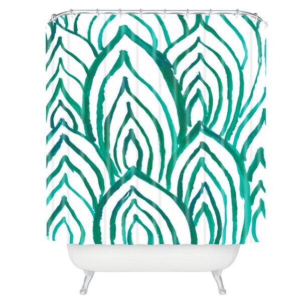 Rebecca Allen Emerald Coast Shower Curtain by East Urban Home