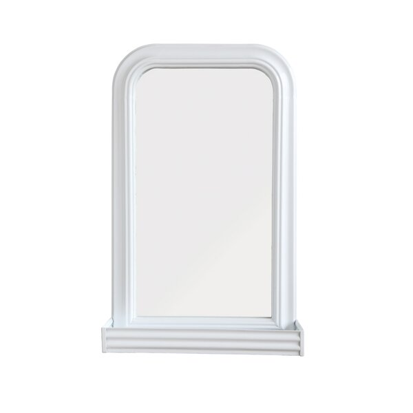 Voyles Metal Wall Mirror with Shelf by Gracie Oaks