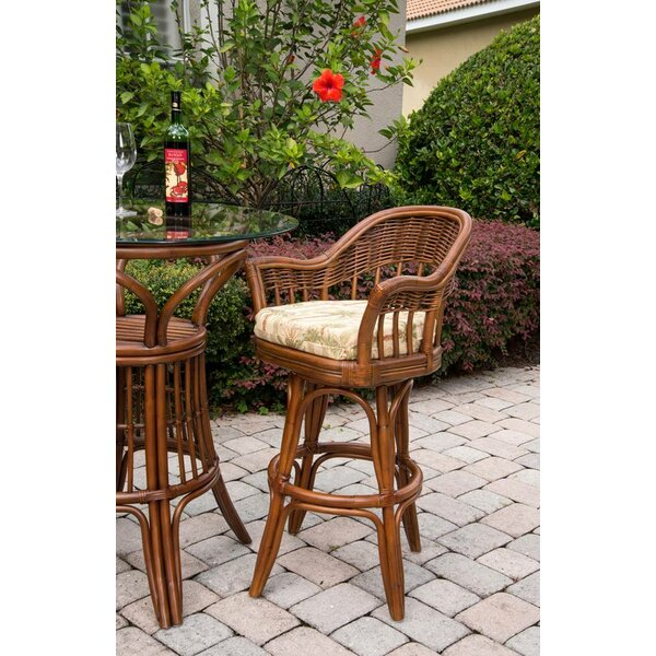 Moonsu Traditional 30 Swivel Bar Stool by Bayou Breeze