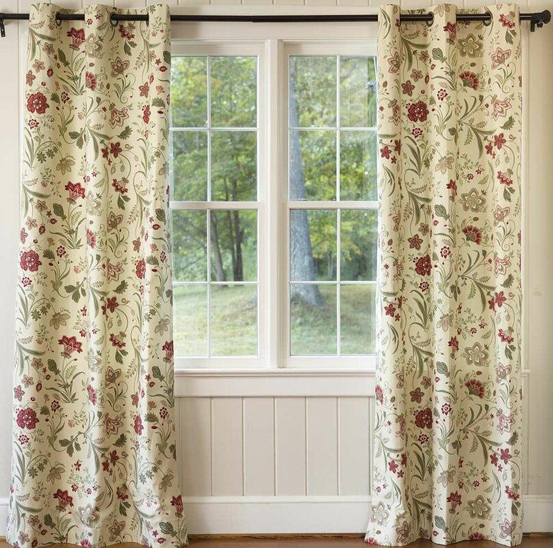 Jacobean Thermalogic™ Floral Room Darkening Thermal Grommet Curtain Panels