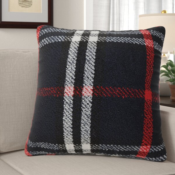 Weist Plaid Throw Pillow by Millwood Pines