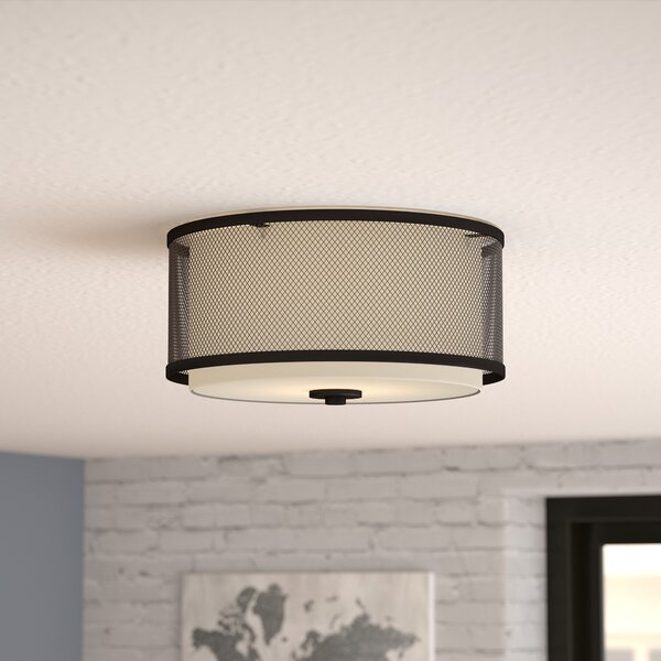 Birchfield 3-Light Flush Mount by Mercury Row