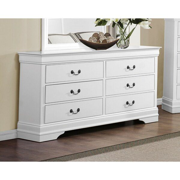 Naomi Wooden 6 Drawer Double Dresser by Alcott Hill