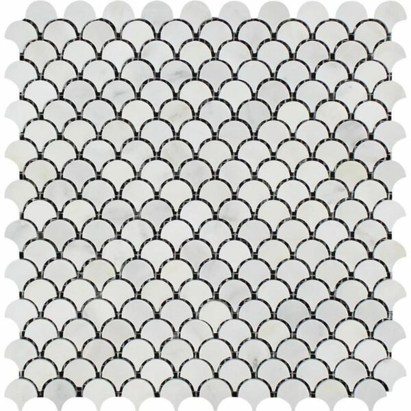 Marble Fish Scale Mosaic Wall & Floor Tile