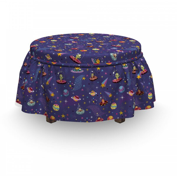 Space Characters Galaxy Ottoman Slipcover (Set Of 2) By East Urban Home