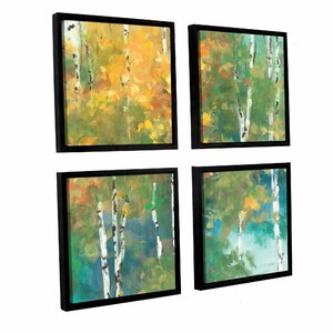 Confetti I 4 Piece Framed Painting Print on Canvas Set by Red Barrel Studio
