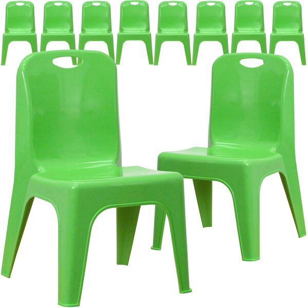 Stackable 11.25 Plastic Classroom Chair (Set of 10) by Flash Furniture