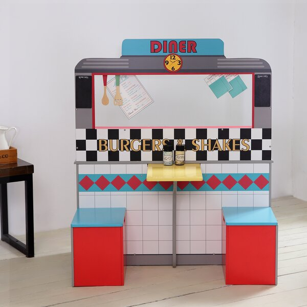 14 Piece Brooklyn Diner Play Kitchen Set by Teamso