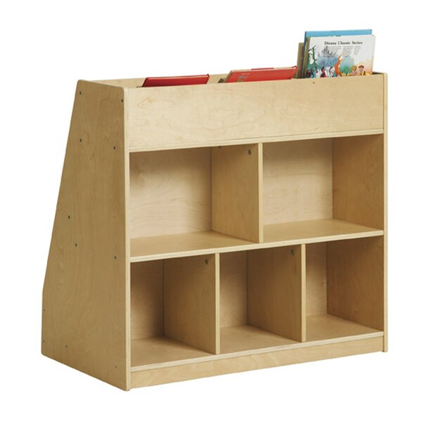 Store 5 Compartment Book Display with Bins by Offex