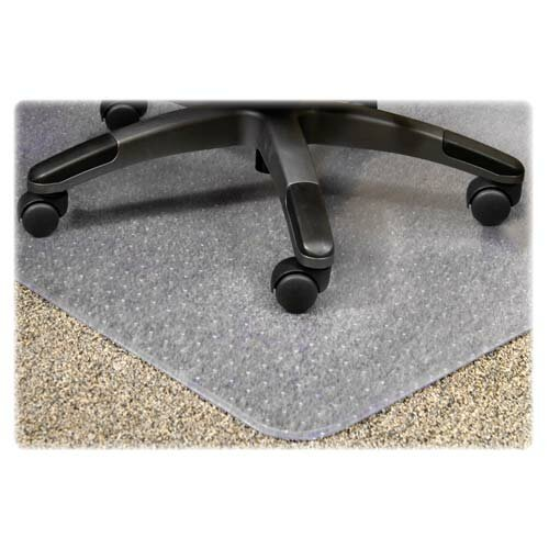 PlushMat Medium Plush Pile Carpet Beveled Edge Chair Mat by Lorell