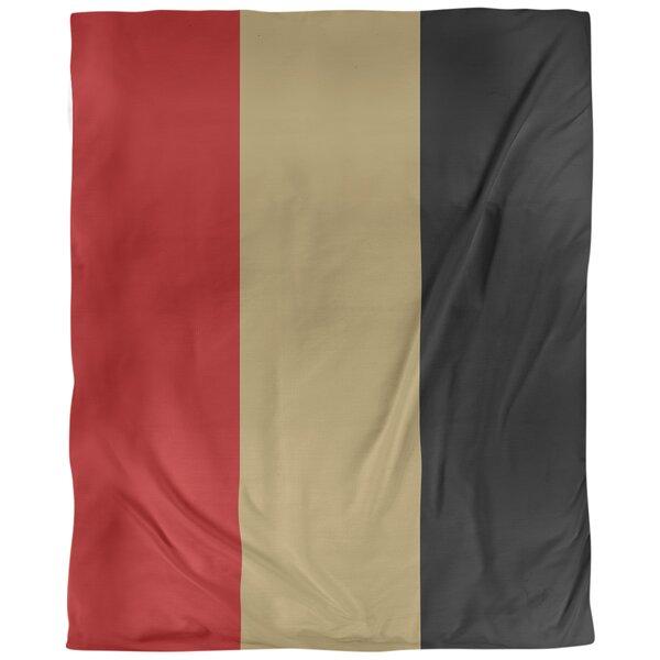 San Francisco Arizona Football Stripes Single Duvet Cover
