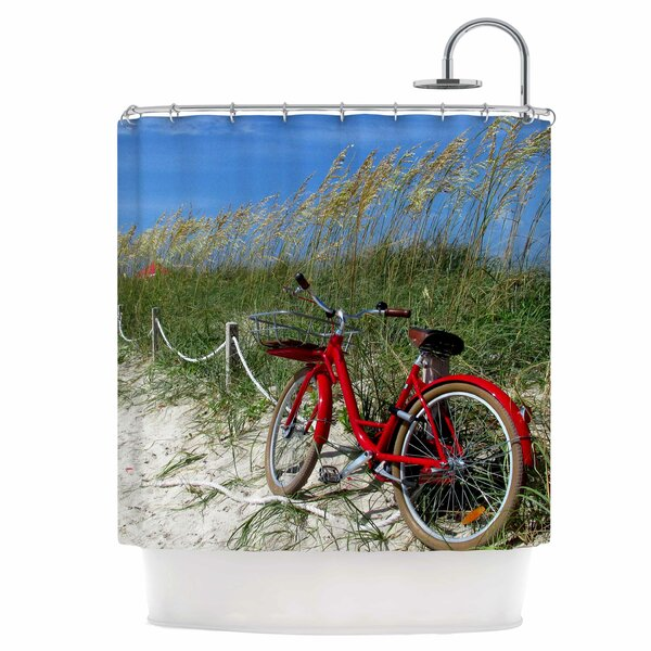 A Day at The Beach Shower Curtain by East Urban Home