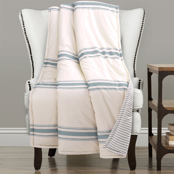 Matterson Stripe Single Cotton Throw by Eider & Ivory