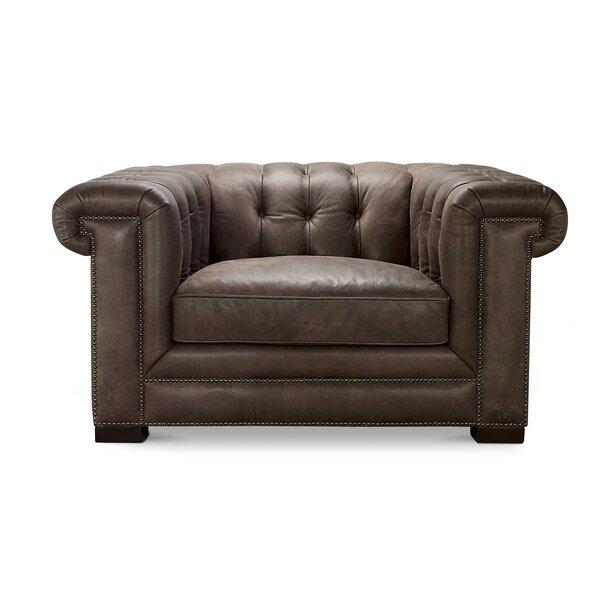 Borba Leather Armchair By Canora Grey