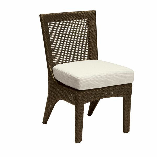Trinidad Patio Side Dining Chair with Cushion by Woodard