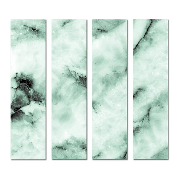 3 x 12 Beveled Glass Subway Tile in Green by Upscale Designs by EMA