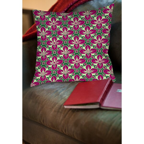 Anna Medallion 4 Printed Throw Pillow by Manual Woodworkers & Weavers