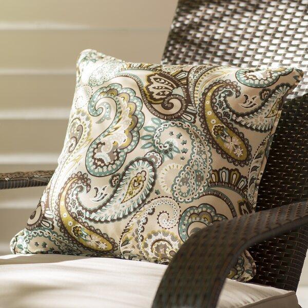 Aeroome Indoor / Outdoor Paisley Throw Pillow (Set of 2)