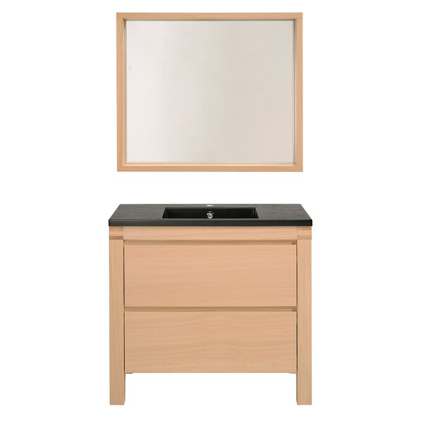 Erwan 35 Single Bathroom Vanity Set with Mirror by Parisot